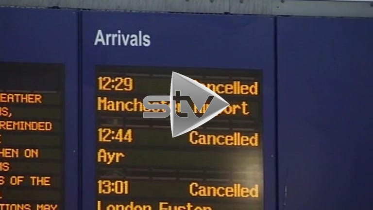 All Trains Cancelled Due to Weather