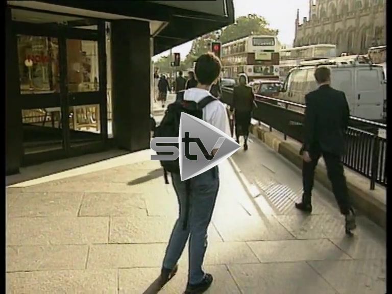 """Devolution Referendum – Campaigner hands out """"Yes Yes"""" leaflets"""