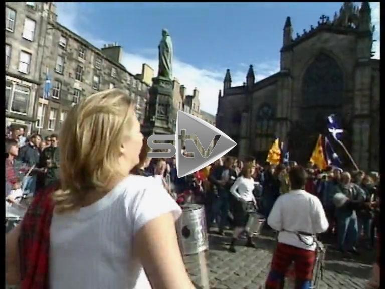 "Devolution Referendum – Crowds Celebrate ""Yes Yes"" Victory"