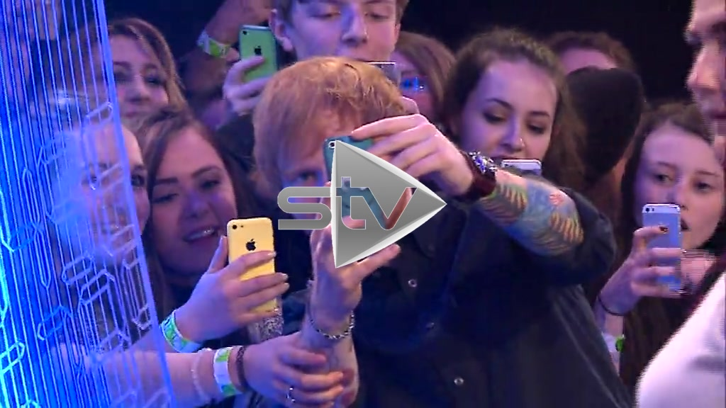Ed Sheeran at 2014 MTV EMAs