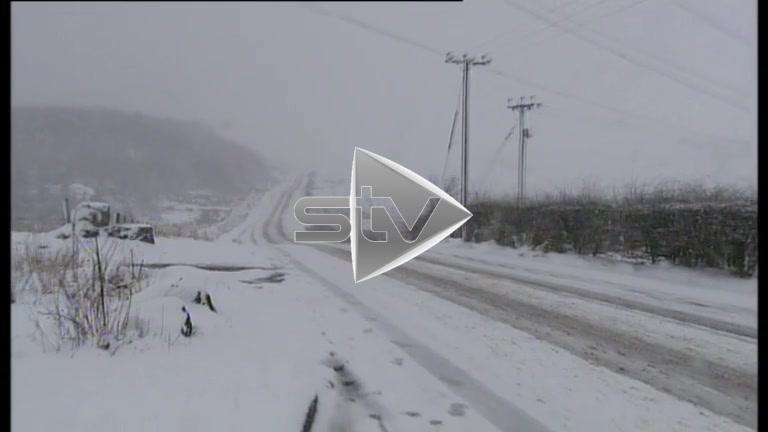 Heavy Snowfall in Ayrshire Countryside