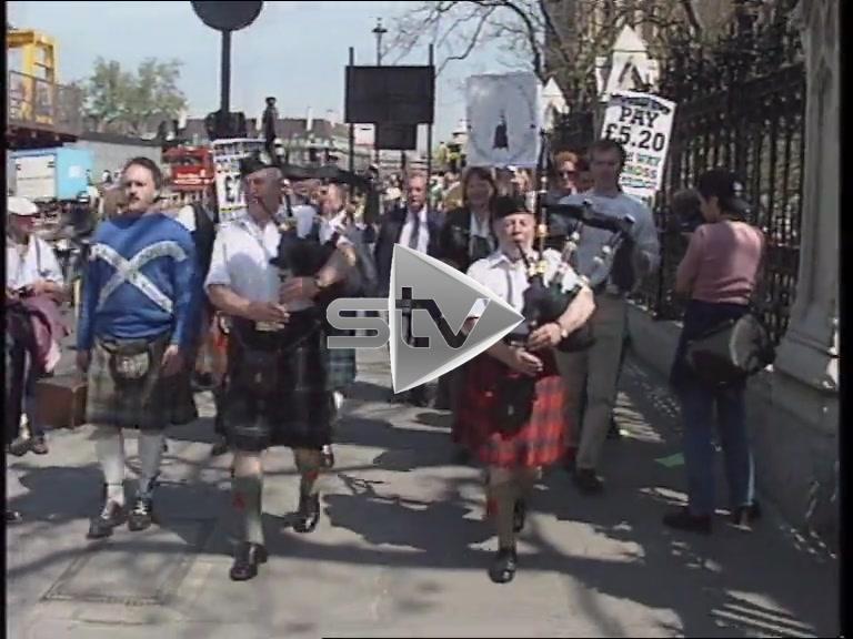Skye Bridge Tolls London Protest