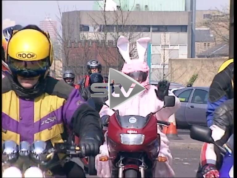 Easter Bunnies on Bikes