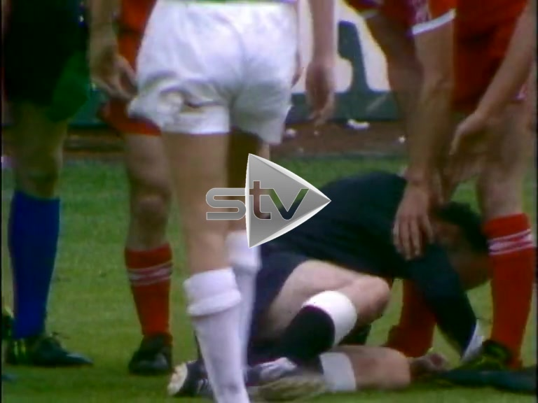 Referee Smacked with Ball