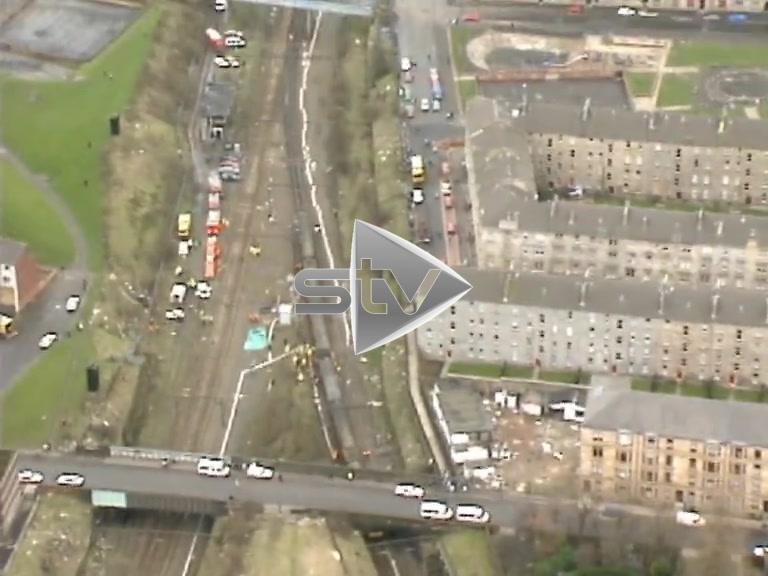Bellgrove Train Crash Aerials