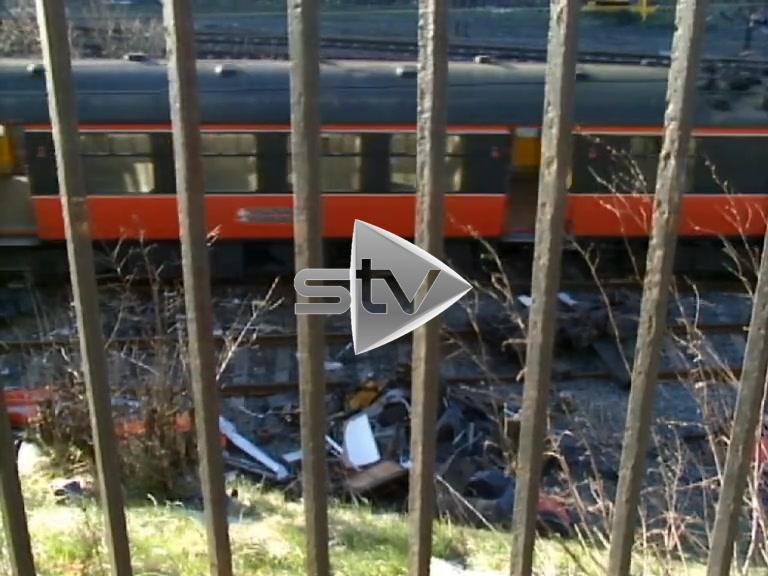 Bellgrove Train Crash Debris