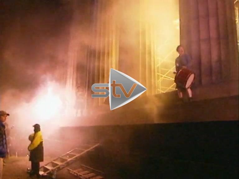 Fire Show on Carlton Hill