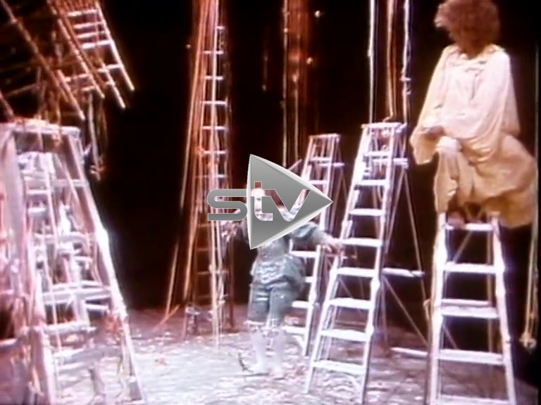 David Bowie in Pierrot in Turquoise