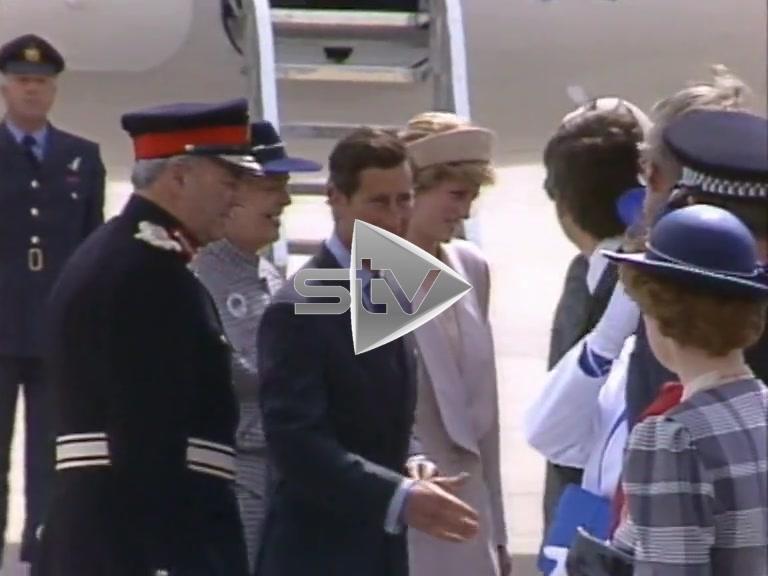 Charles & Diana Arrive in Shetland