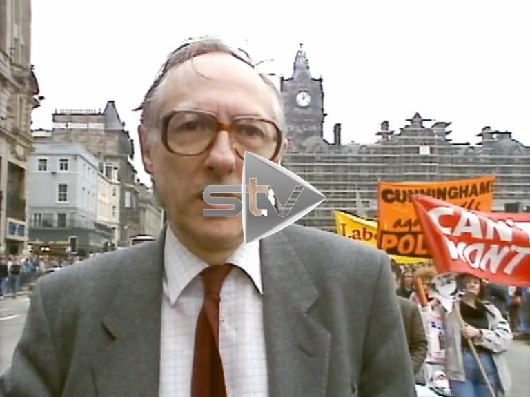 Donald Dewar Fighting the Poll Tax