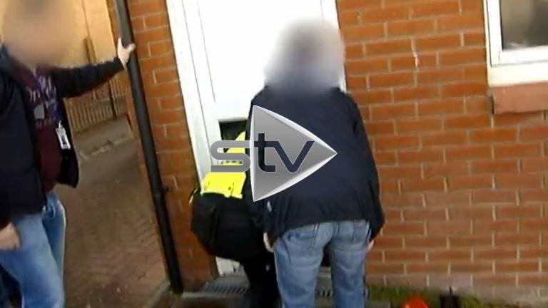 Police Raid in Easterhouse