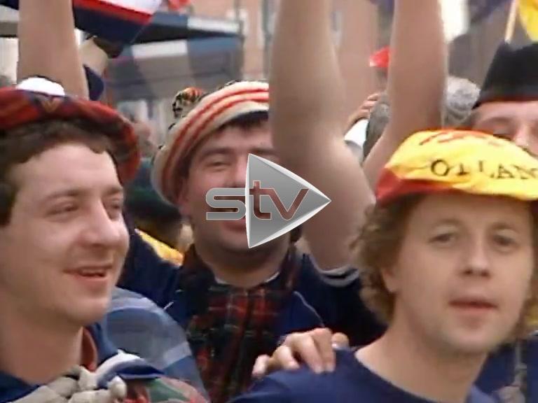 Scotland Fans in Spain 1985
