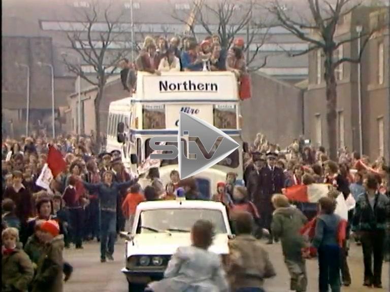 Aberdeen League Cup Celebrations 1976