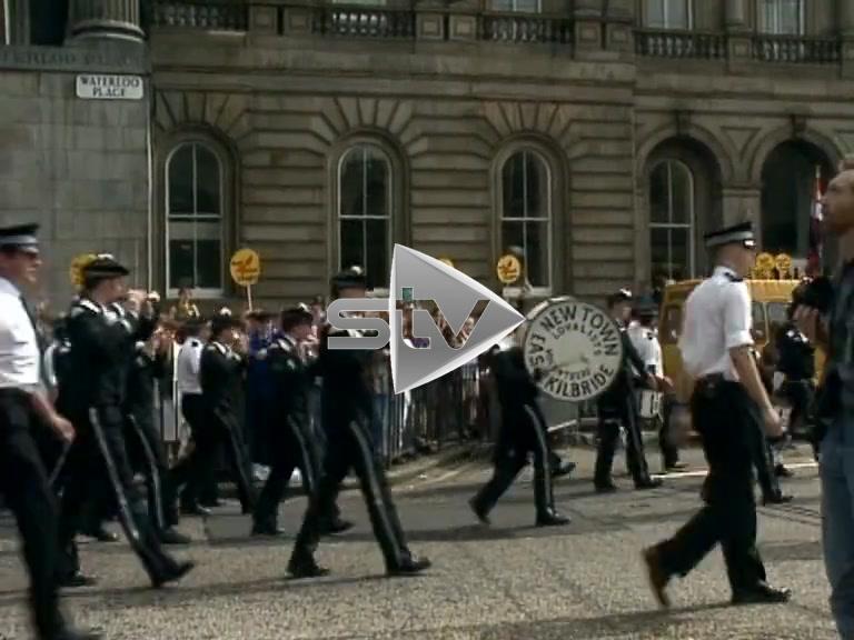 Edinburgh Orange Walk Protest