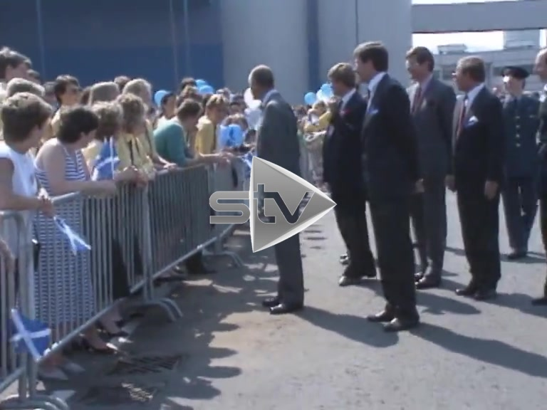 Prince Philip Visits Irvine Paper Mill