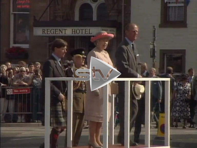Queen and Prince Philip in Oban