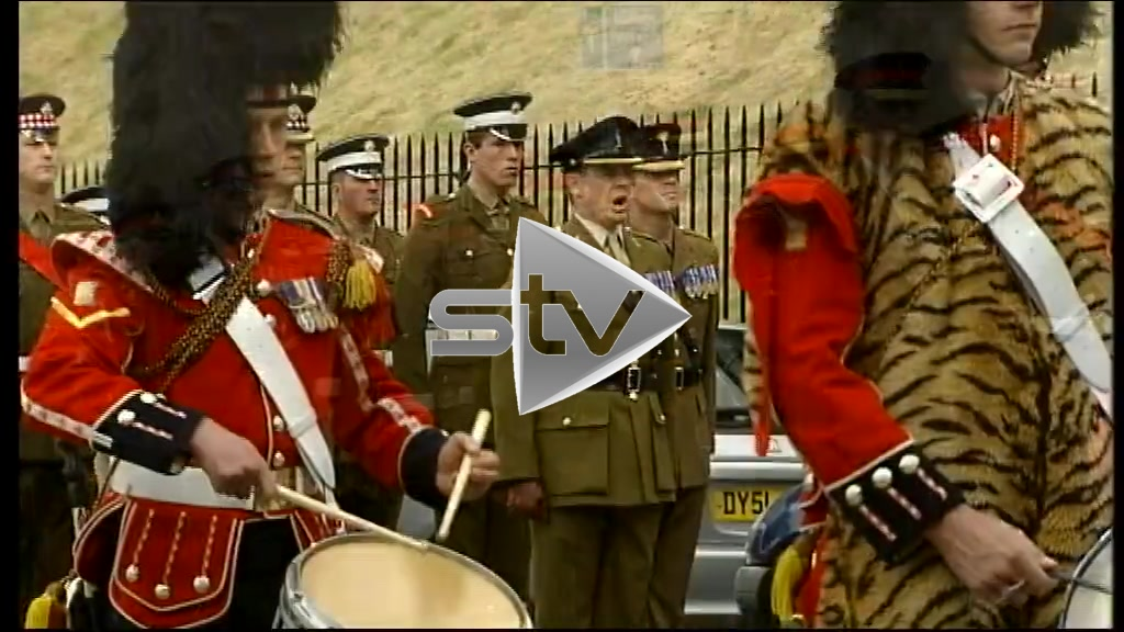 Prince Harry Marches with 52nd Infantry