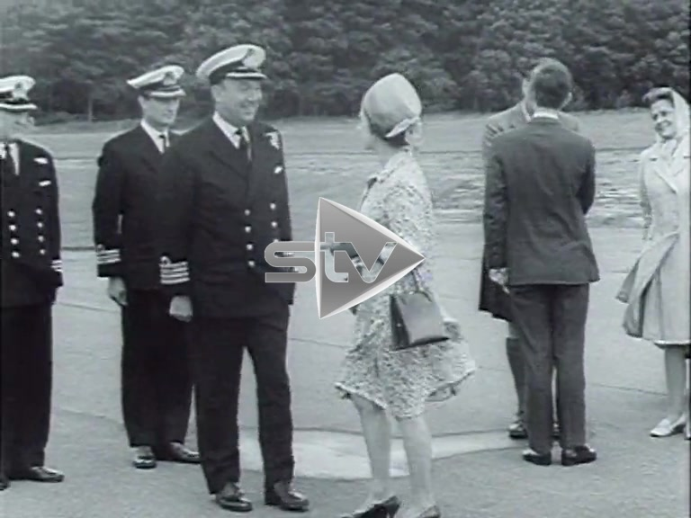 The Queen & Prince Charles at Milltown Airfield
