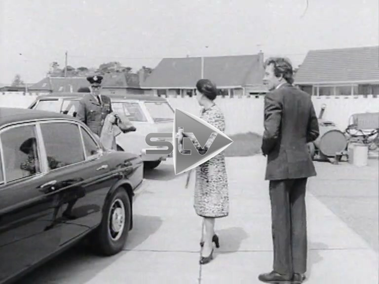 The Royals at Dyce Airport 1973