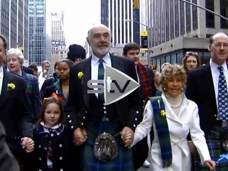 Connery in Tartan Day Parade