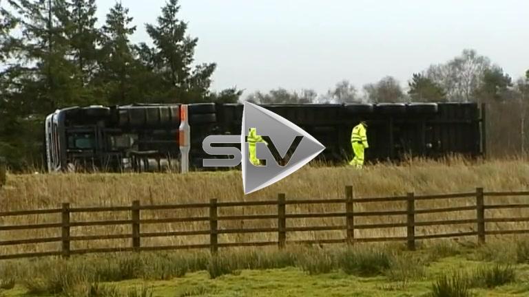 High Winds Overturn Lorries