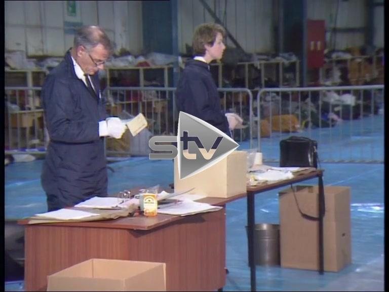 Lockerbie Air Disaster: Debris Sorting