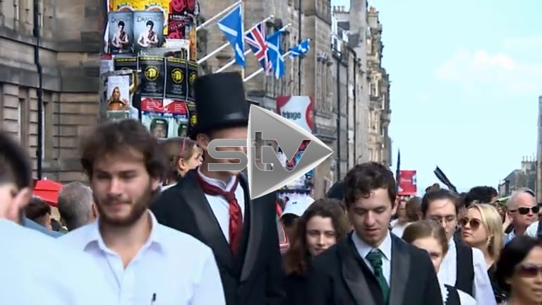 The Royal Mile During the Edinburgh Festival