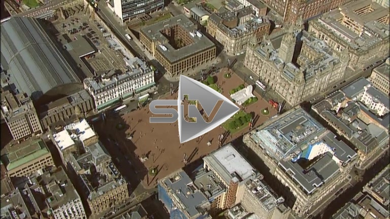 HD Aerials of George Square Glasgow