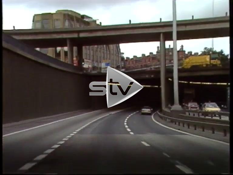 Driving Through 80s Glasgow