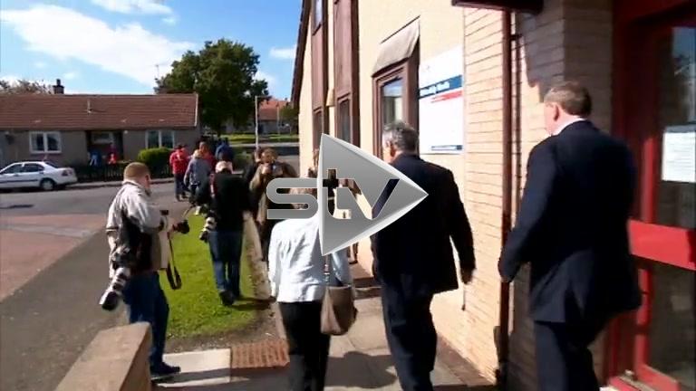 Gordon Brown Campaigns in Kirkcaldy