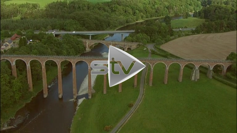 HD Aerials of the Leaderfoot viaduct