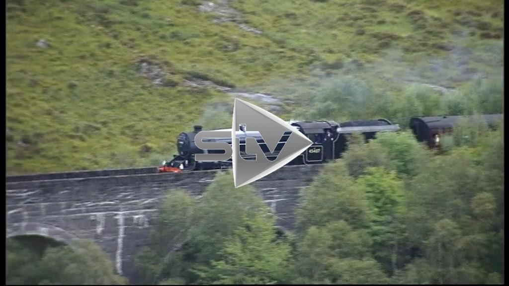 The Jacobite Locomotive Travelling