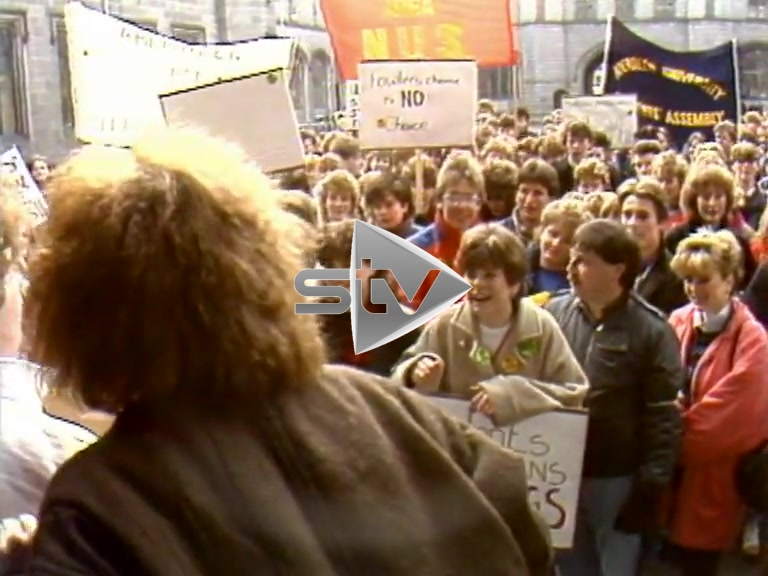 Eighties Student Rally