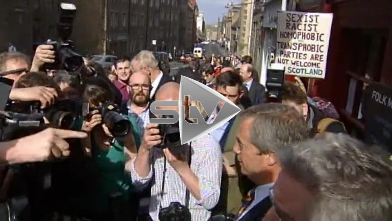Nigel Farage Visits Edinburgh