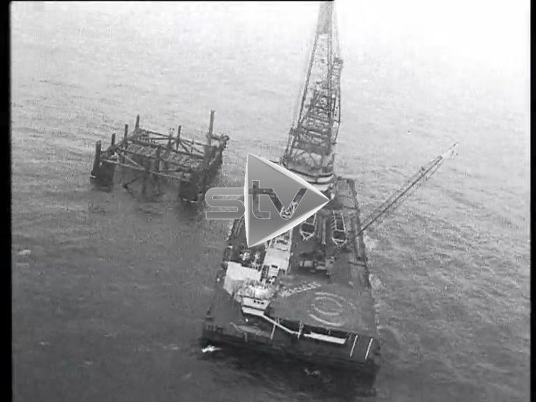 North Sea Oil Platforms