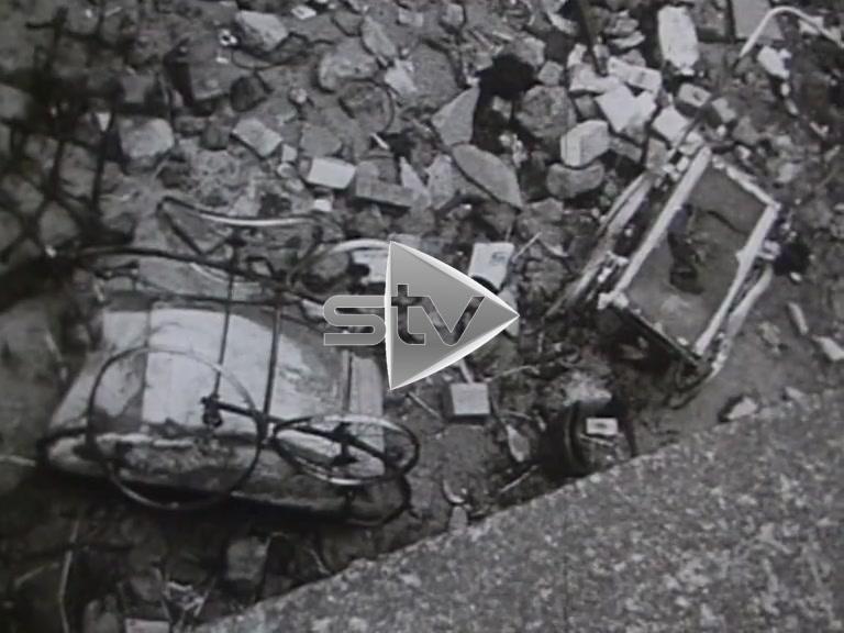 Glasgow Tenements Being Demolished 1966