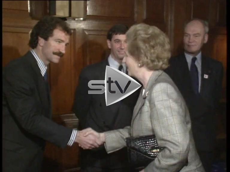 Mrs. Thatcher visits Ibrox