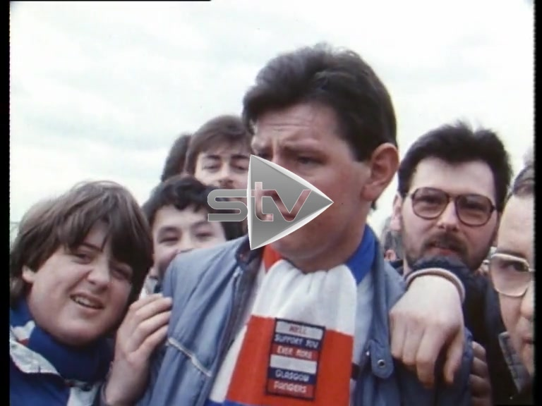 Vox Pops With Rangers Fans – 1986