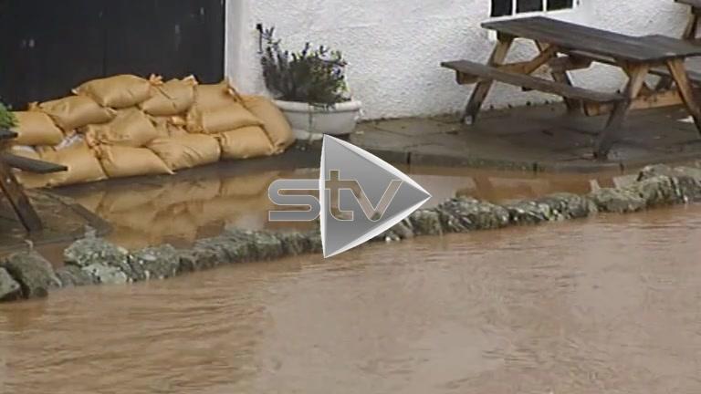 River in Edinburgh Bursts its Banks