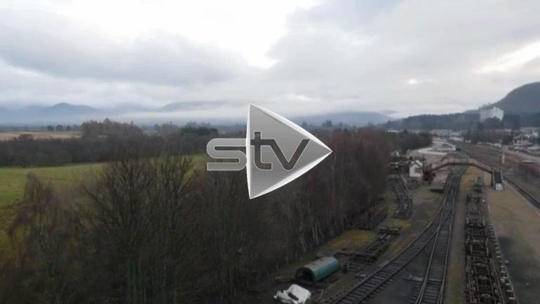 HD Aerial of Strathspey Railway