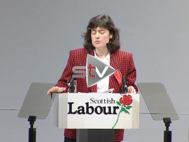 Sarah Boyack Scottish Labour Party Conference 1996