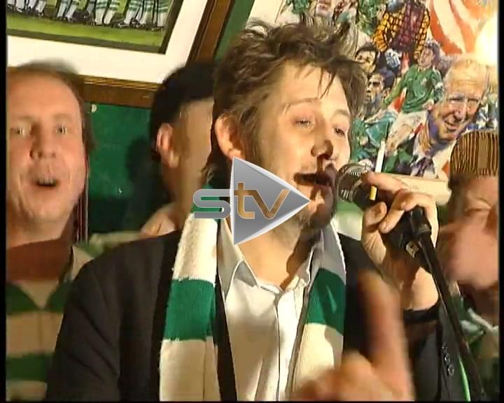 Shane MacGowan Celtic Fan!