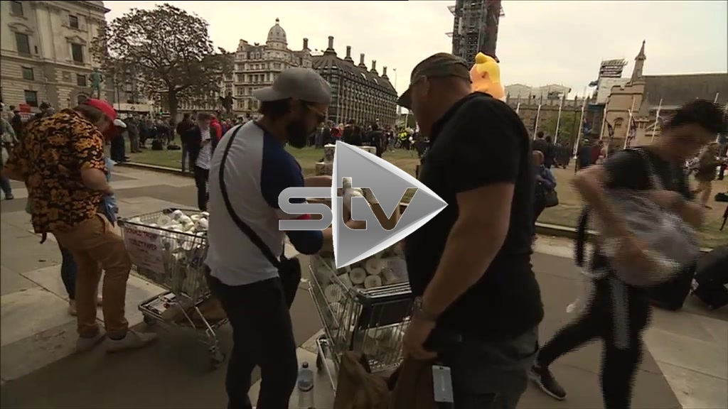 Trump London Protest